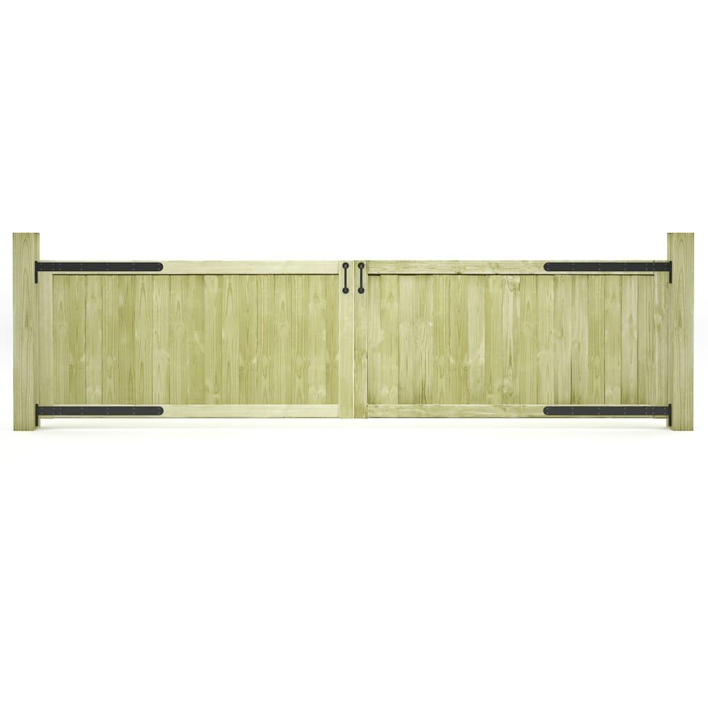 vidaXL Záhradné brány 2ks impregnované borovicové drevo FSC 300x75 cm