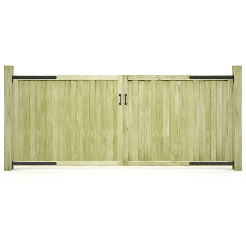 vidaXL Záhradné brány 2ks impregnované borovicové drevo FSC 300x125 cm
