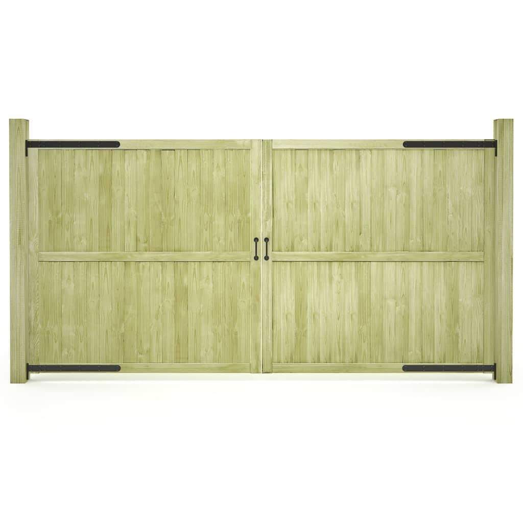 vidaXL Záhradné brány 2ks impregnované borovicové drevo FSC 300x150 cm