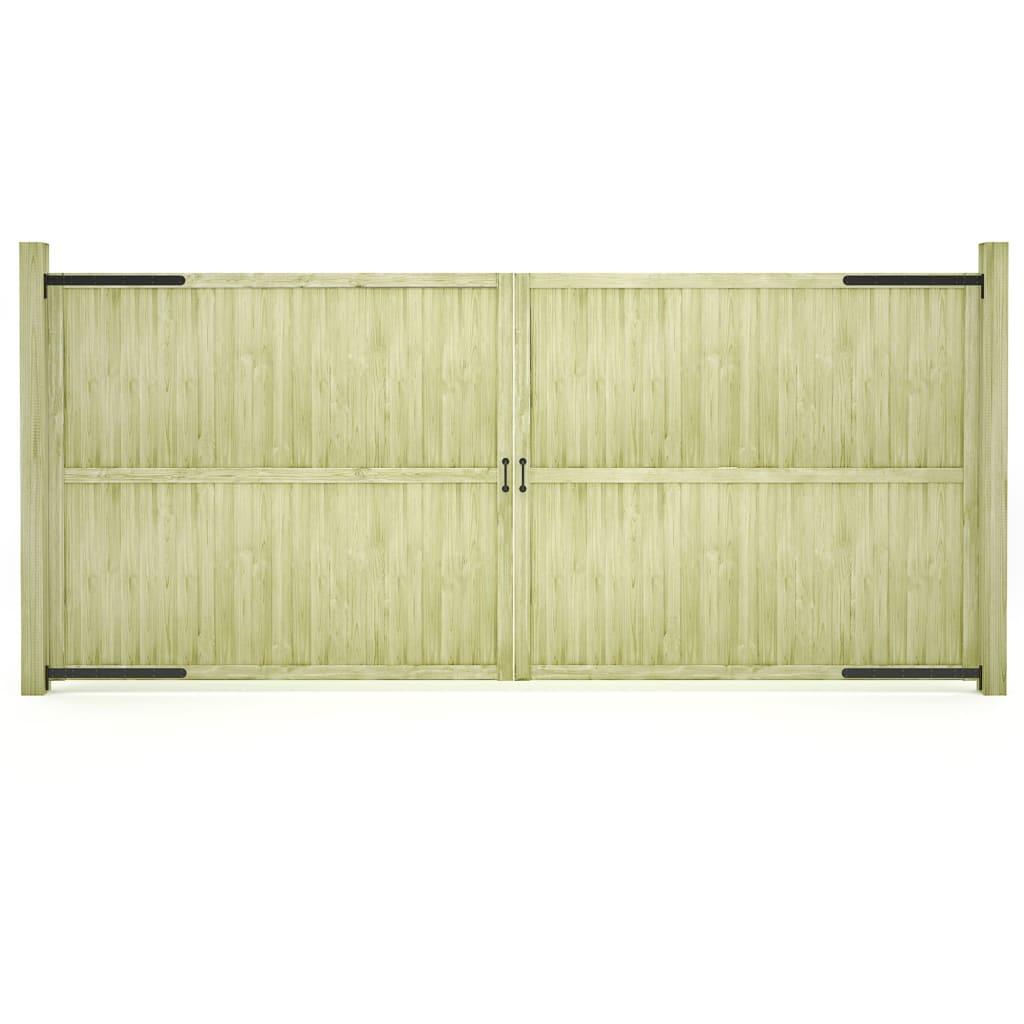 vidaXL Záhradné brány 2ks impregnované borovicové drevo FSC 400x175 cm