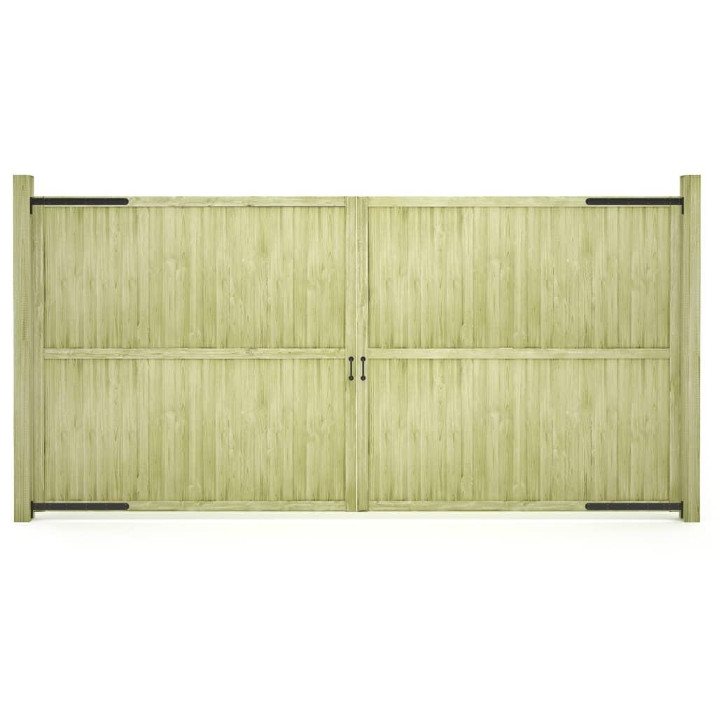 vidaXL Záhradné brány 2ks impregnované borovicové drevo FSC 400x200 cm