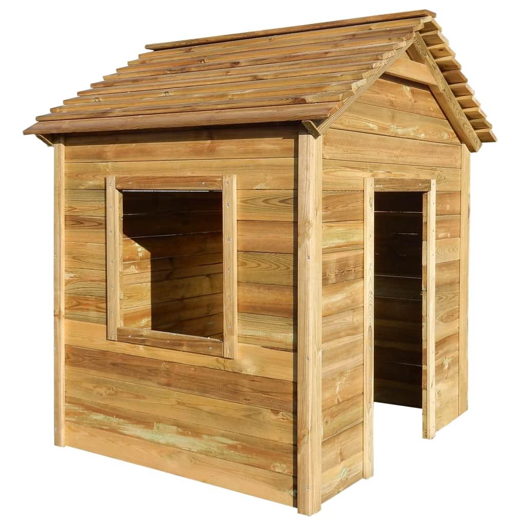 vidaXL Vonkajší detský domček 123x120x146 cm FSC borovicové drevo