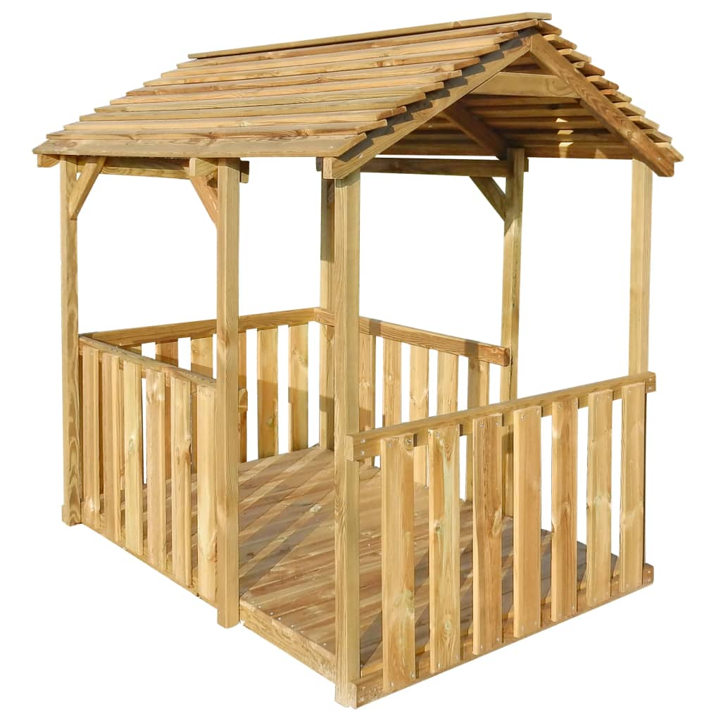 vidaXL Vonkajší detský domček 122,5x160x163 cm FSC borovicové drevo