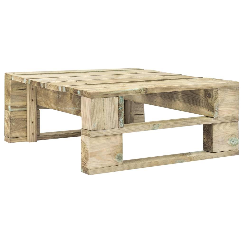 vidaXL Záhradný paletový otoman zelený FSC drevo