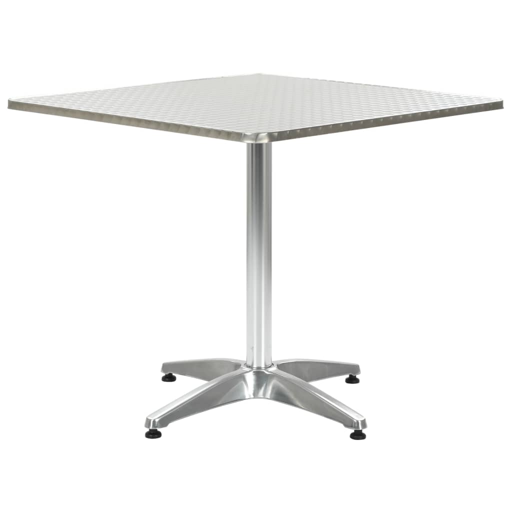 vidaXL Záhradný stôl strieborný 80x80x70 cm hliníkový