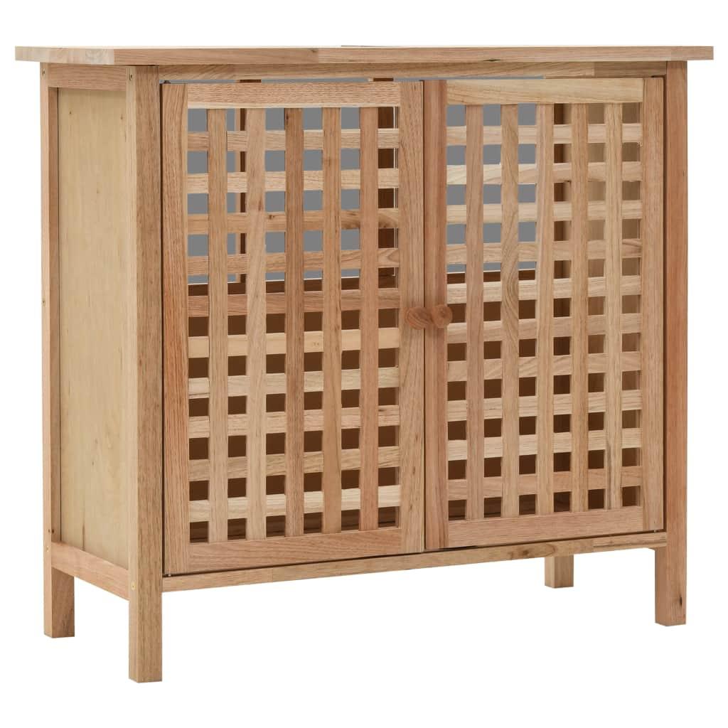 vidaXL Kúpeľňová skrinka z masívneho orechového dreva 66x29x61 cm