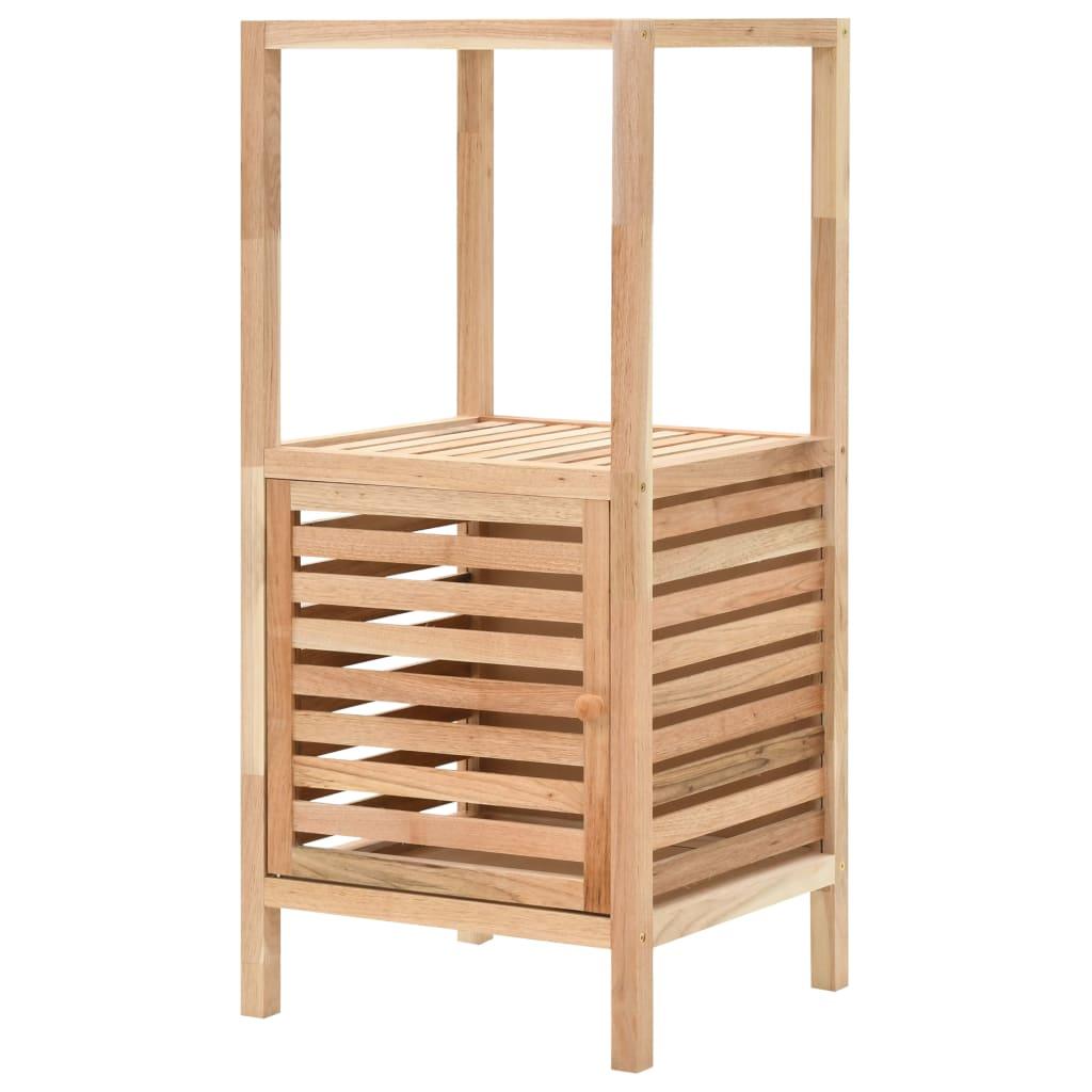 vidaXL Úložná skrinka do kúpeľne z orechového dreva 39,5x35,5x86 cm
