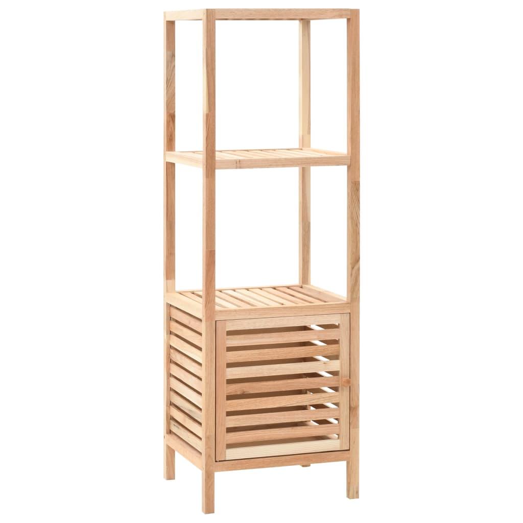 vidaXL Úložná skrinka do kúpeľne z orechového dreva 39,5x35,5x123 cm