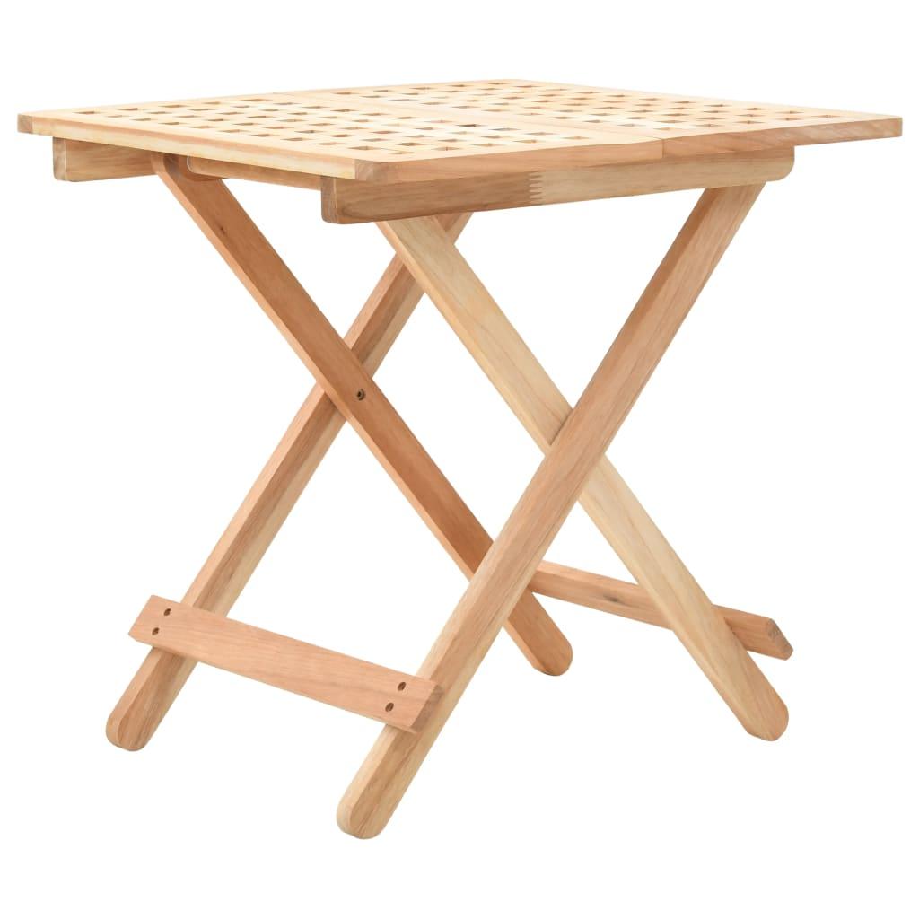 vidaXL Skladací príručný stolík z orechového dreva 50x50x49 cm