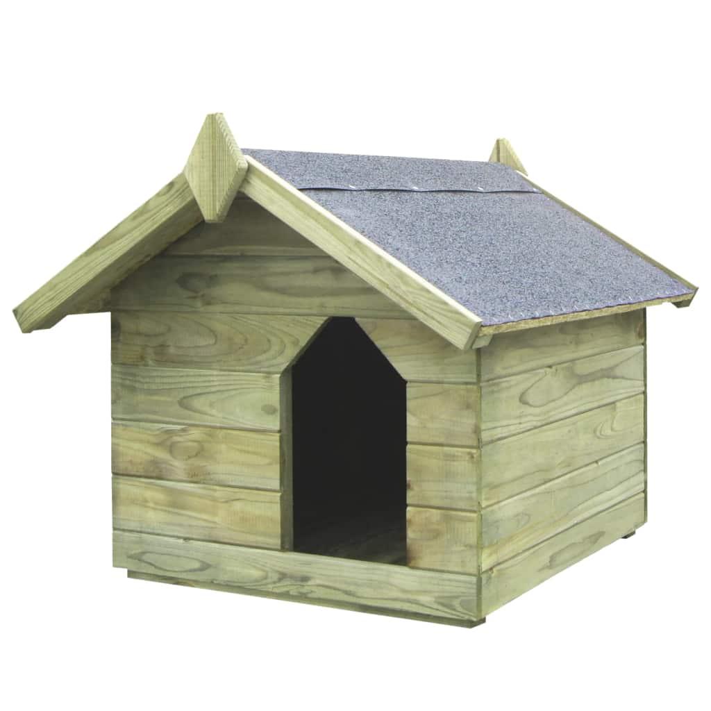 vidaXL Záhradná psia búda s otvárateľnou strechou FSC borovicové impregnované drevo