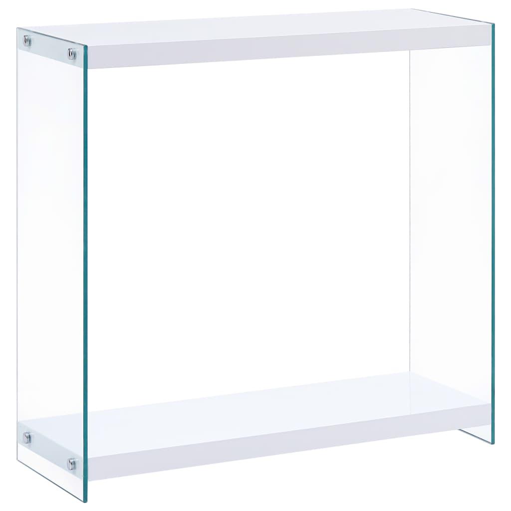 vidaXL Konzolový stolík biely 82x29x75,5 cm MDF