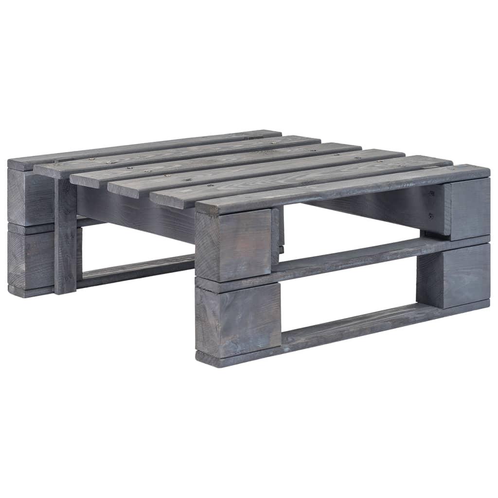 vidaXL Záhradný paletový otoman sivý FSC drevo