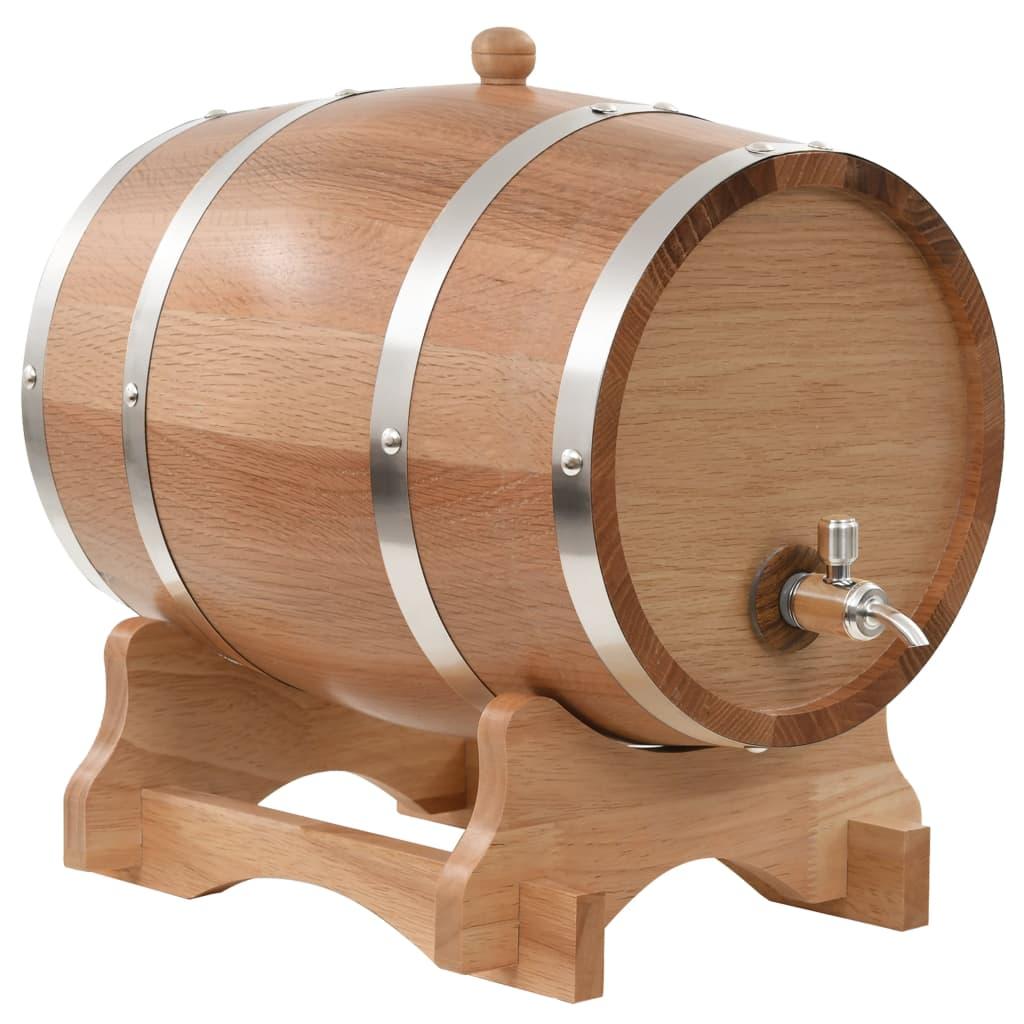 vidaXL Sud na víno s kohútikom masívne dubové drevo 12 l
