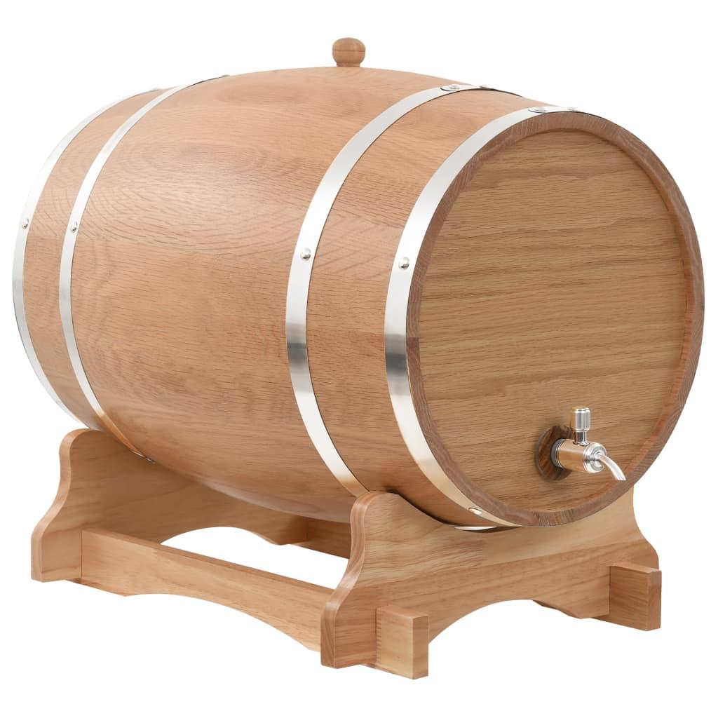 vidaXL Sud na víno z dubového dreva s kohútikom 35 l