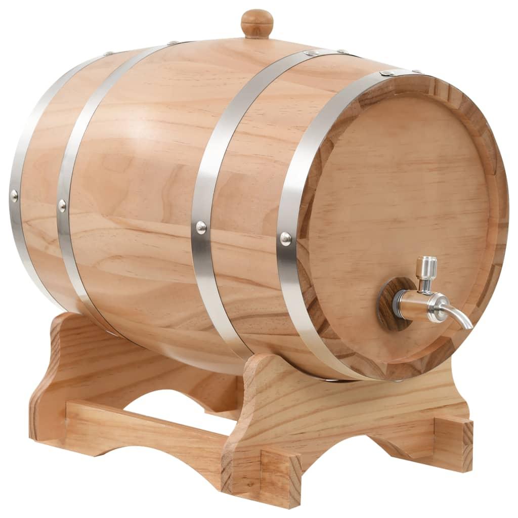 vidaXL Sud na víno s kohútikom z borovicového dreva 12 l