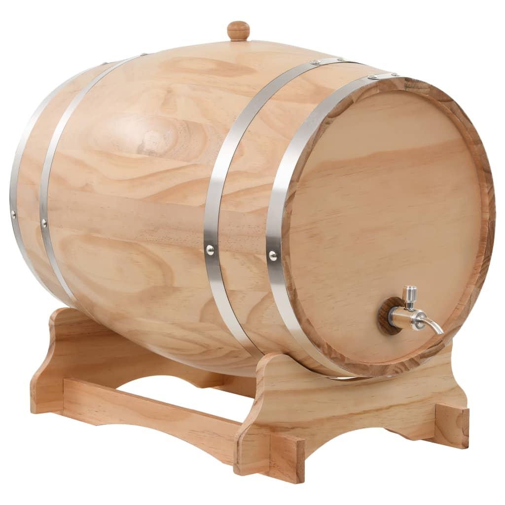 vidaXL Sud na víno s kohútikom z borovicového dreva 35 l