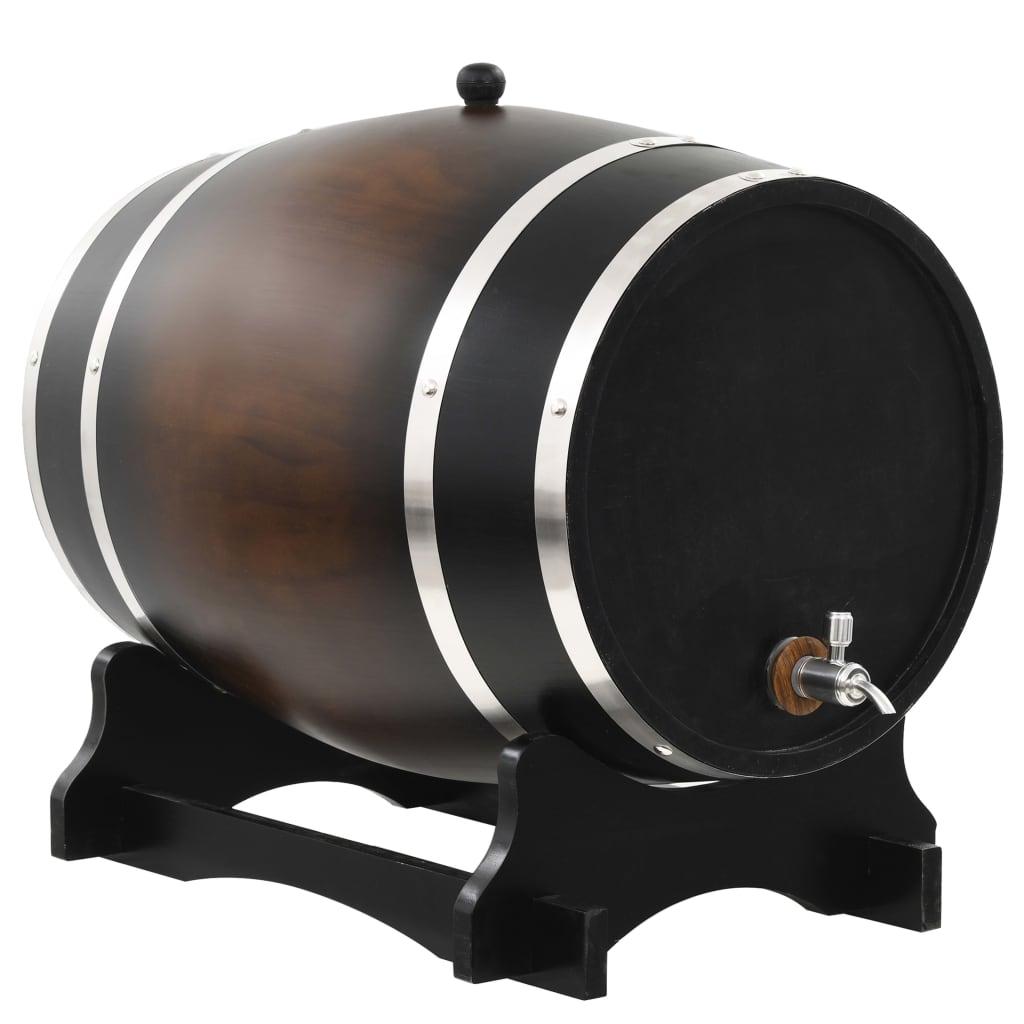 vidaXL Sud na víno s kohútikom z masívneho borovicového dreva 35 l
