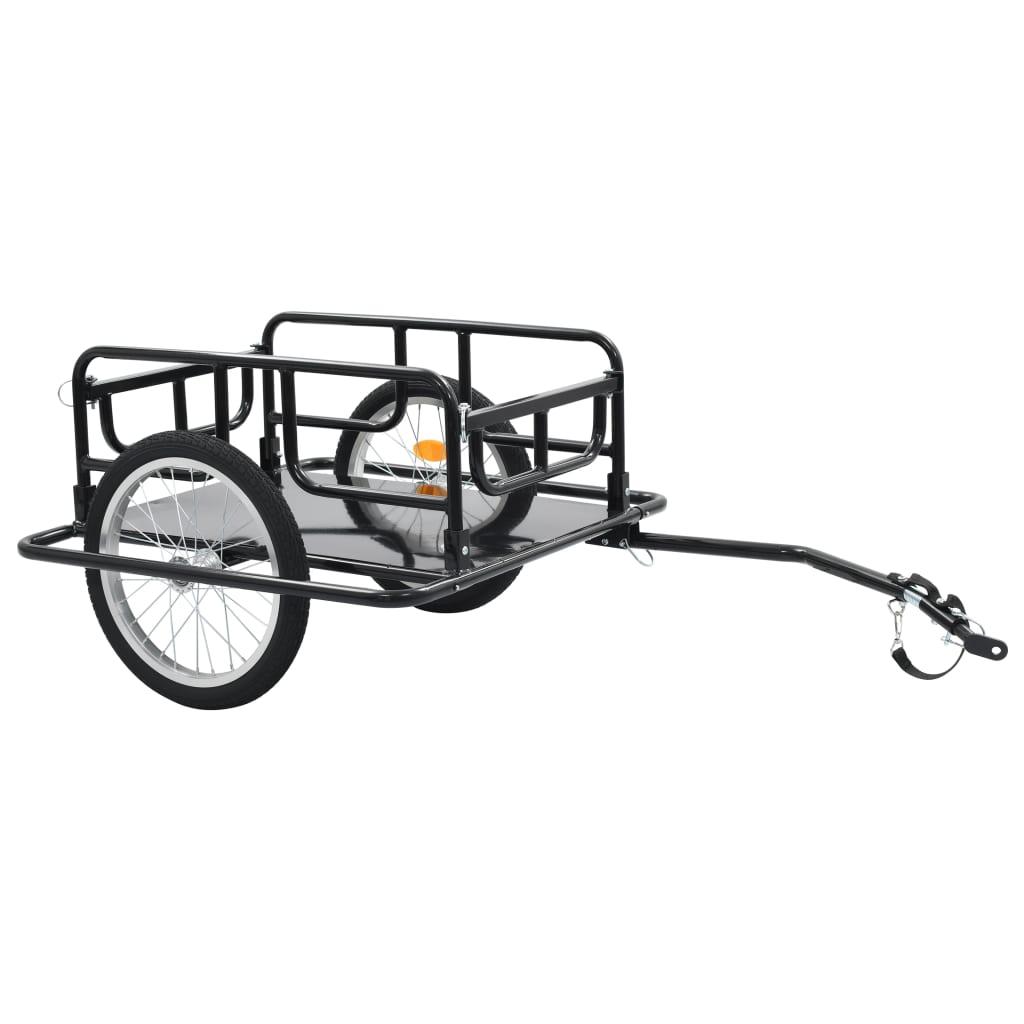 vidaXL Príves na bicykel čierny 130x73x48,5 cm oceľový