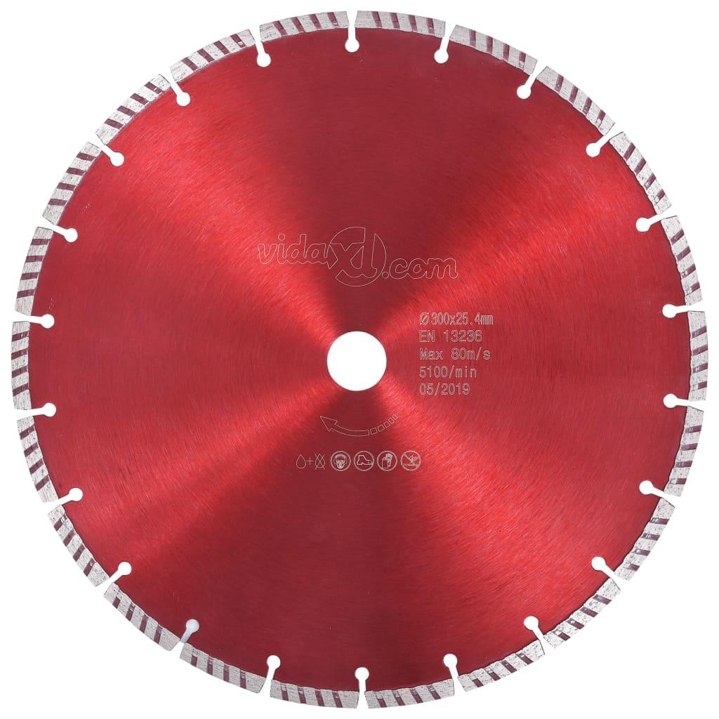 vidaXL Diamantový rezací kotúč s turbom oceľový 300 mm