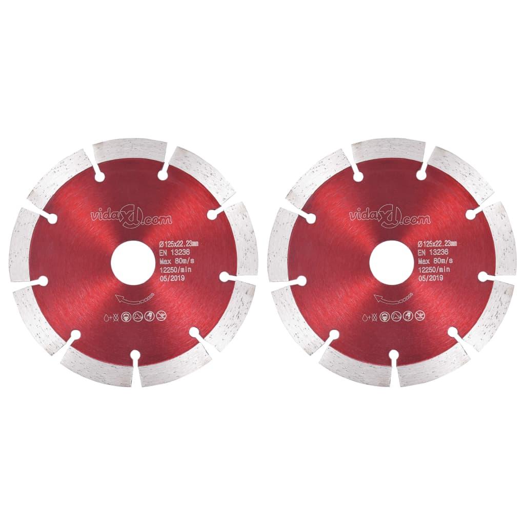 vidaXL Diamantové rezacie kotúče 2 ks, oceľ 125 mm