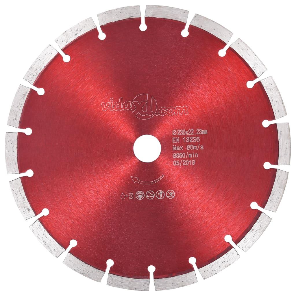 vidaXL Diamantový rezací kotúč oceľový 230 mm