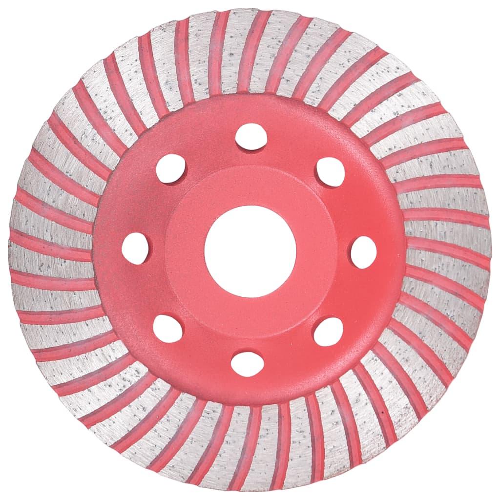 vidaXL Diamantový brúsny kotúč s turbom 115 mm