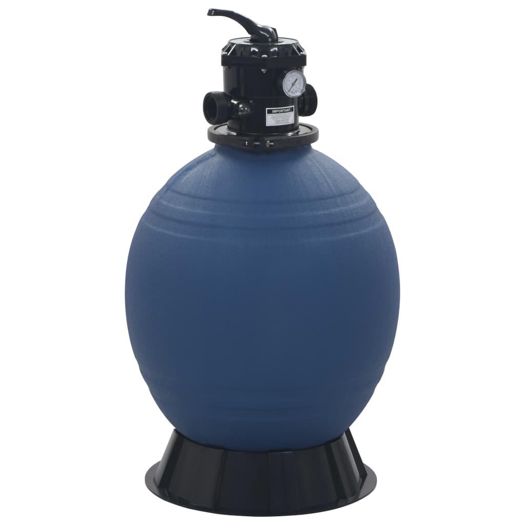 vidaXL Bazénová piesková filtrácia so 6-cestným ventilom modrá 560 mm