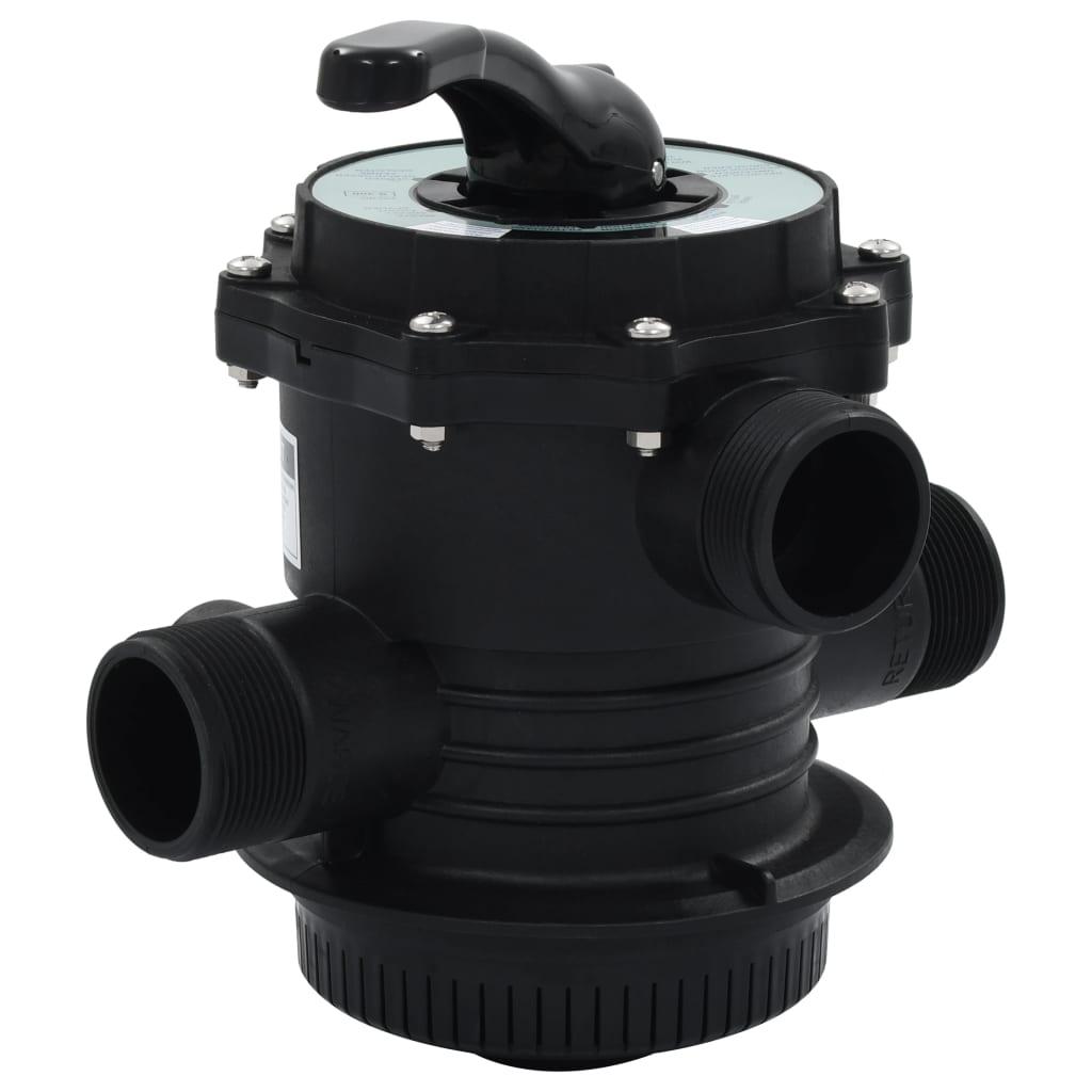 vidaXL Viacsmerový ventil pre pieskový filter ABS 1,5
