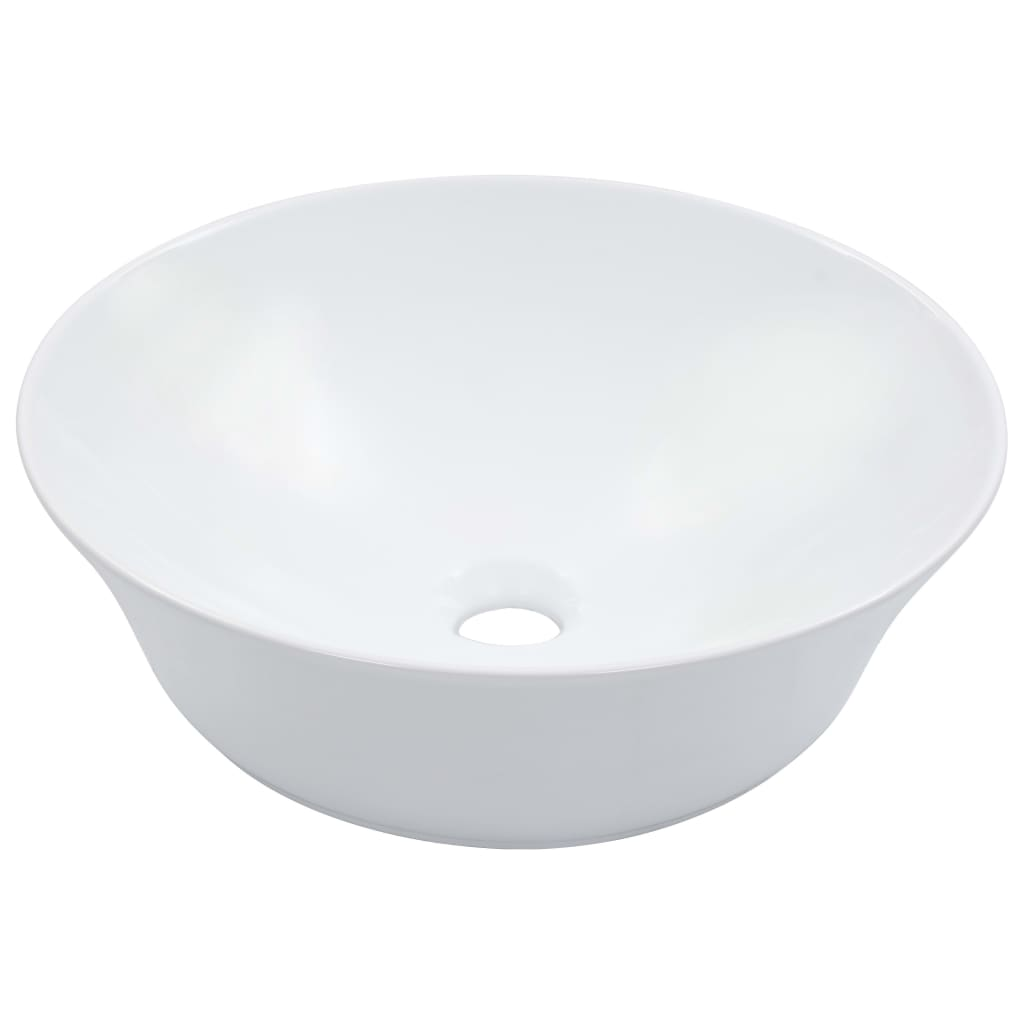 vidaXL Umývadlo biele 41x12,5 cm keramické