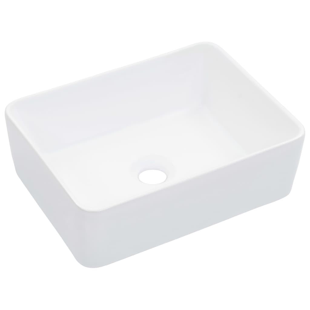 vidaXL Umývadlo biele 40x30x13 cm keramické