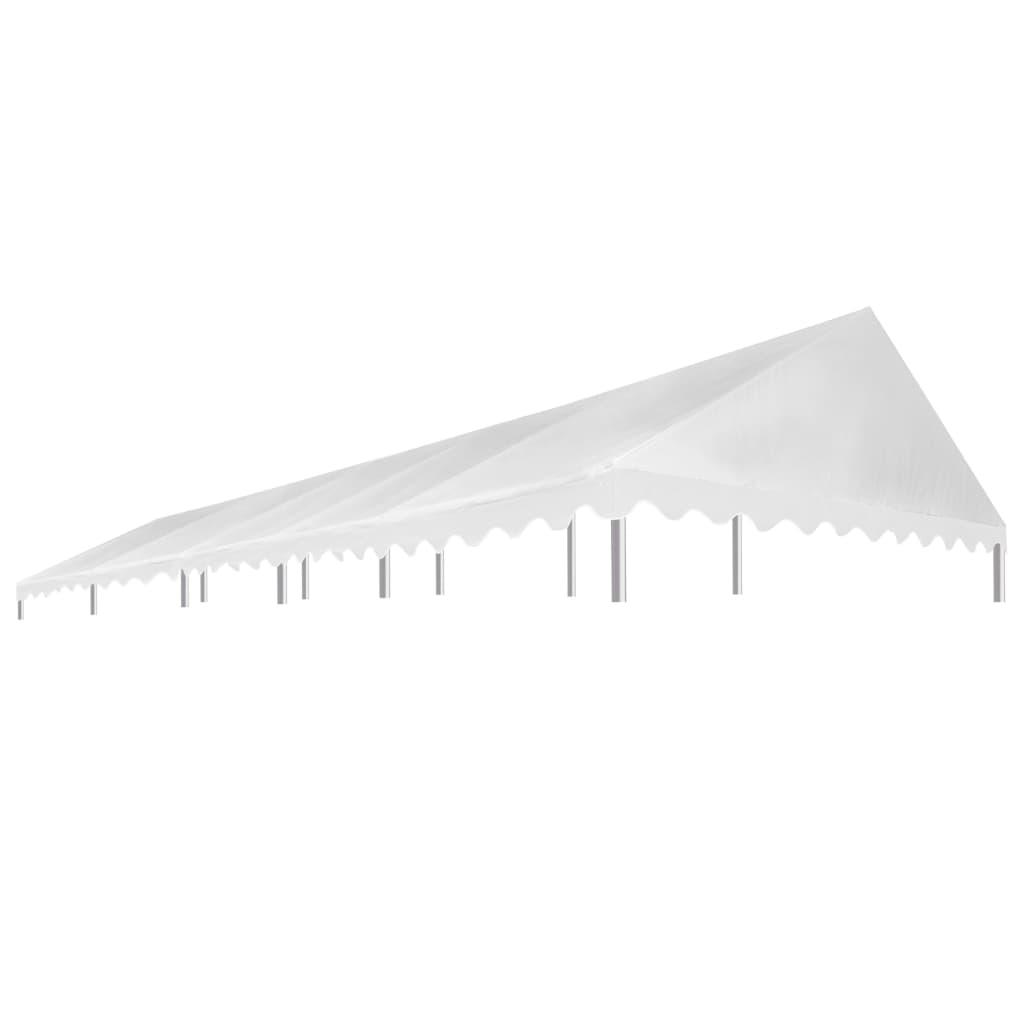 vidaXL Strecha na párty stan 5x10 m biela 450 g/m²