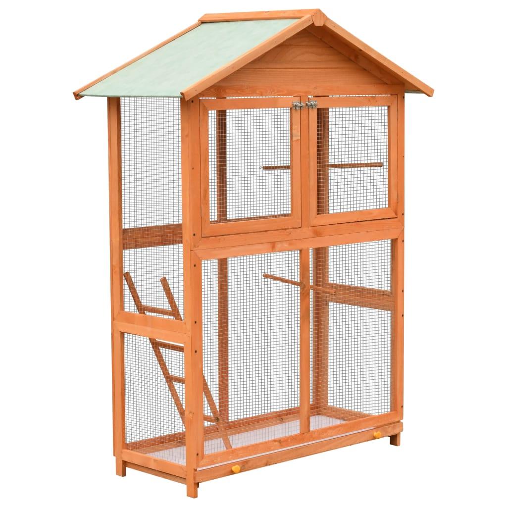 vidaXL Voliéra pre vtákov borovicové a jedľové drevo 120x60x168 cm