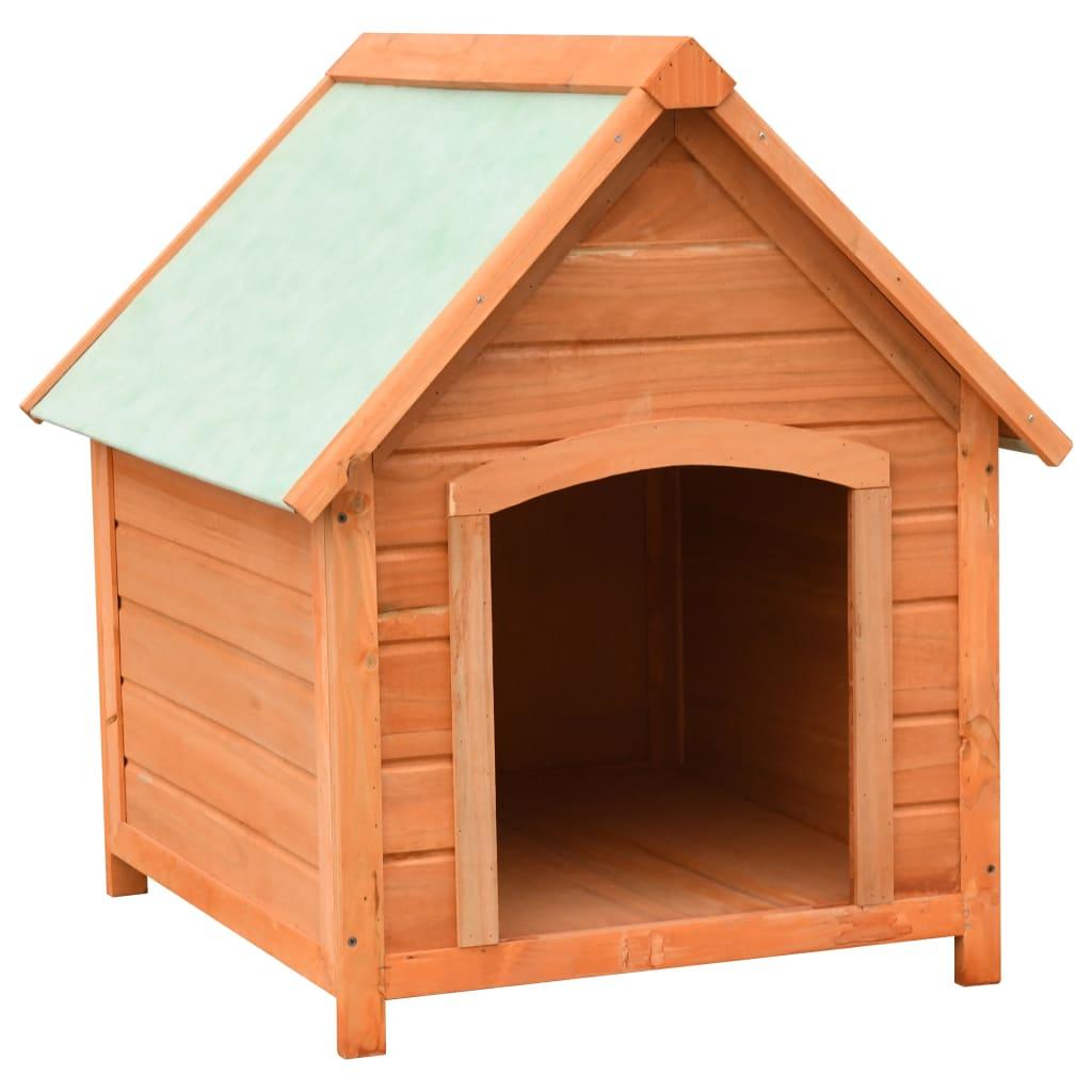 vidaXL Búda pre psa 72x85x82 cm masívne borovicové a jedľové drevo