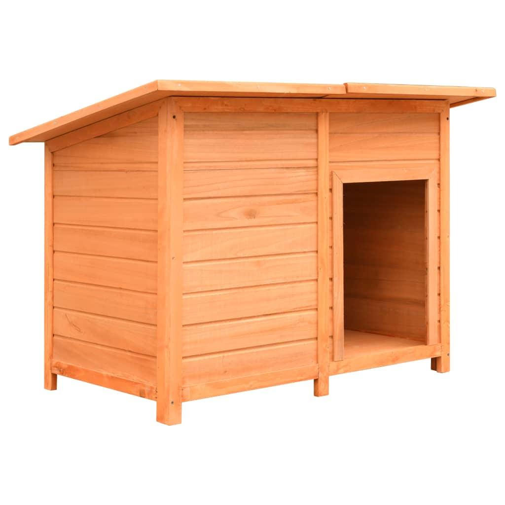 vidaXL Búda pre psa 120x77x86 cm borovicové a jedľové drevo