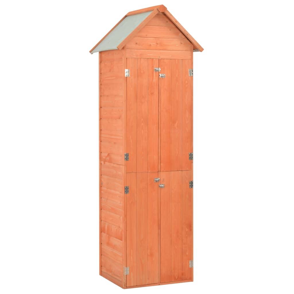 vidaXL Záhradná úložná kôlňa 71x60x213 cm drevená