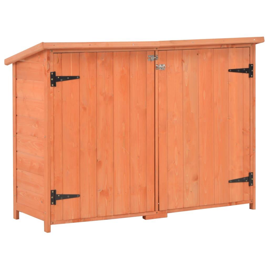 vidaXL Záhradná úložná kôlňa drevená 120x50x91 cm