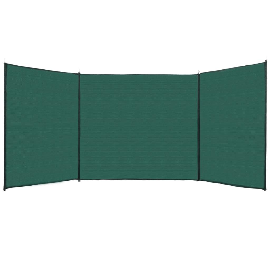 vidaXL Ochranná sieť na plot zelená 150x450 cm HDPE