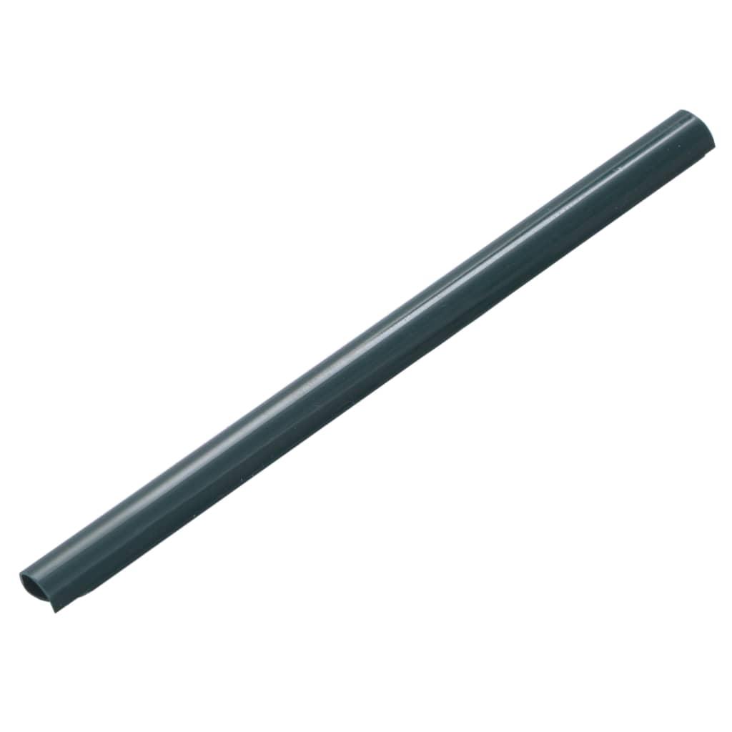 vidaXL 100 ks plotové upínacie lišty zelené PVC
