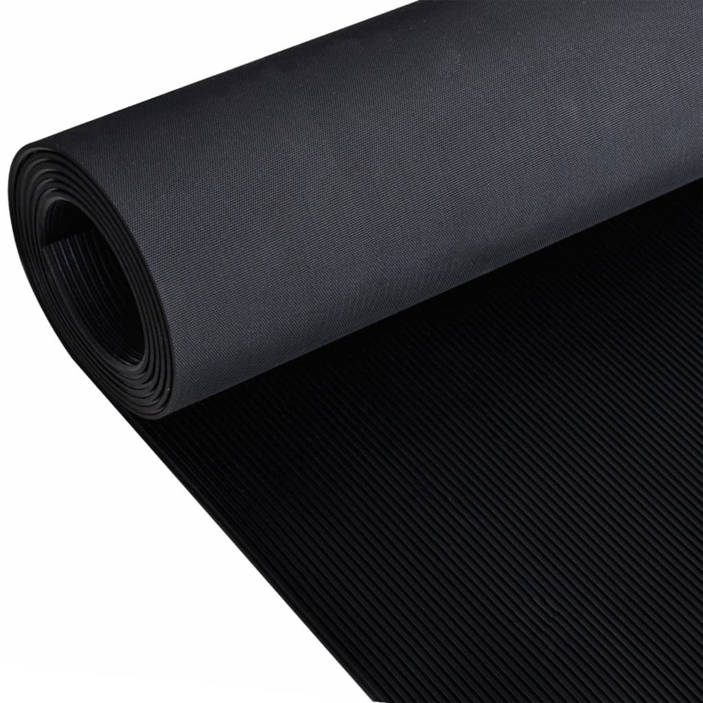vidaXL Podlahová podložka protišmyková guma 1,5x4 m 3 mm jemné pásy