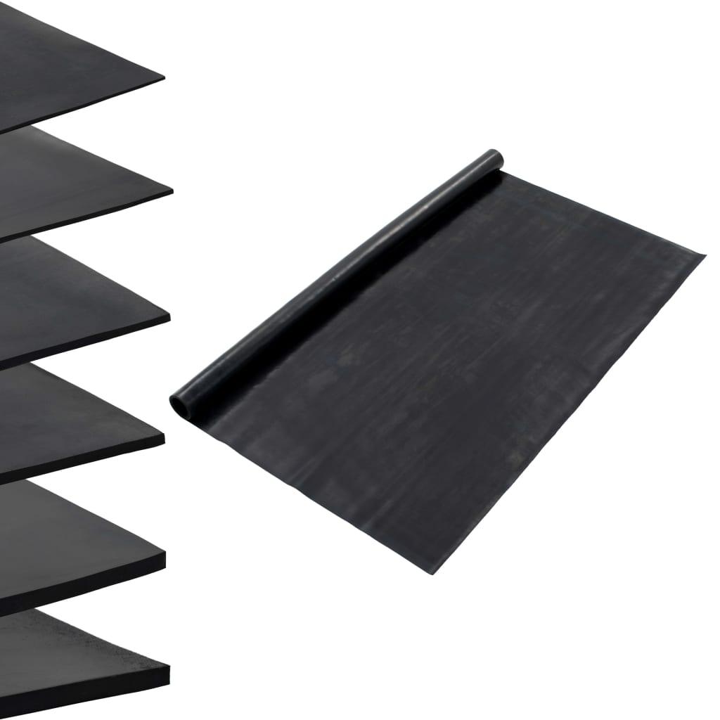 vidaXL Podlahová protišmyková podložka 1,2x5 m 1 mm guma hladká