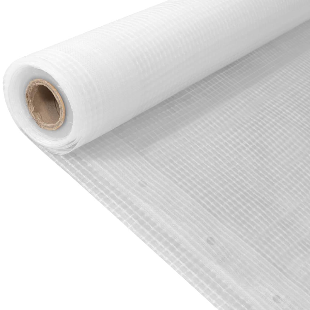 vidaXL Plachta vystužená Leno 260 g/m² 2x10 m biela