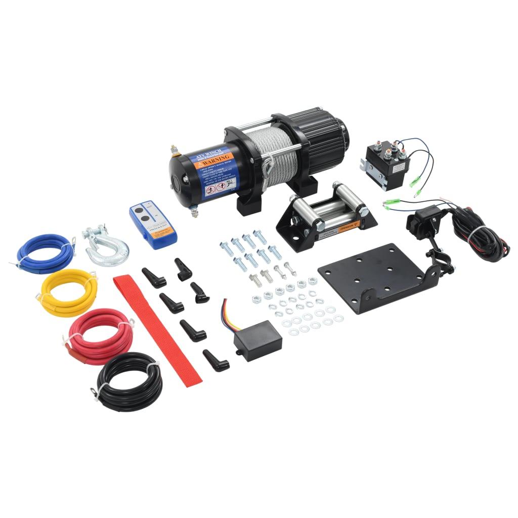 vidaXL Elektrický navijak 12 V 4500 lbs 2040 kg s diaľkovým ovládaním