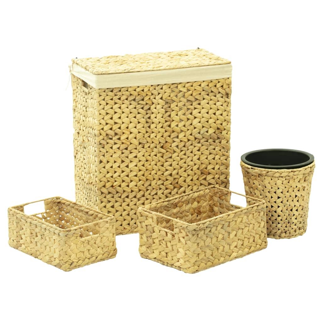 vidaXL 4-dielna kúpeľňová súprava vodný hyacint