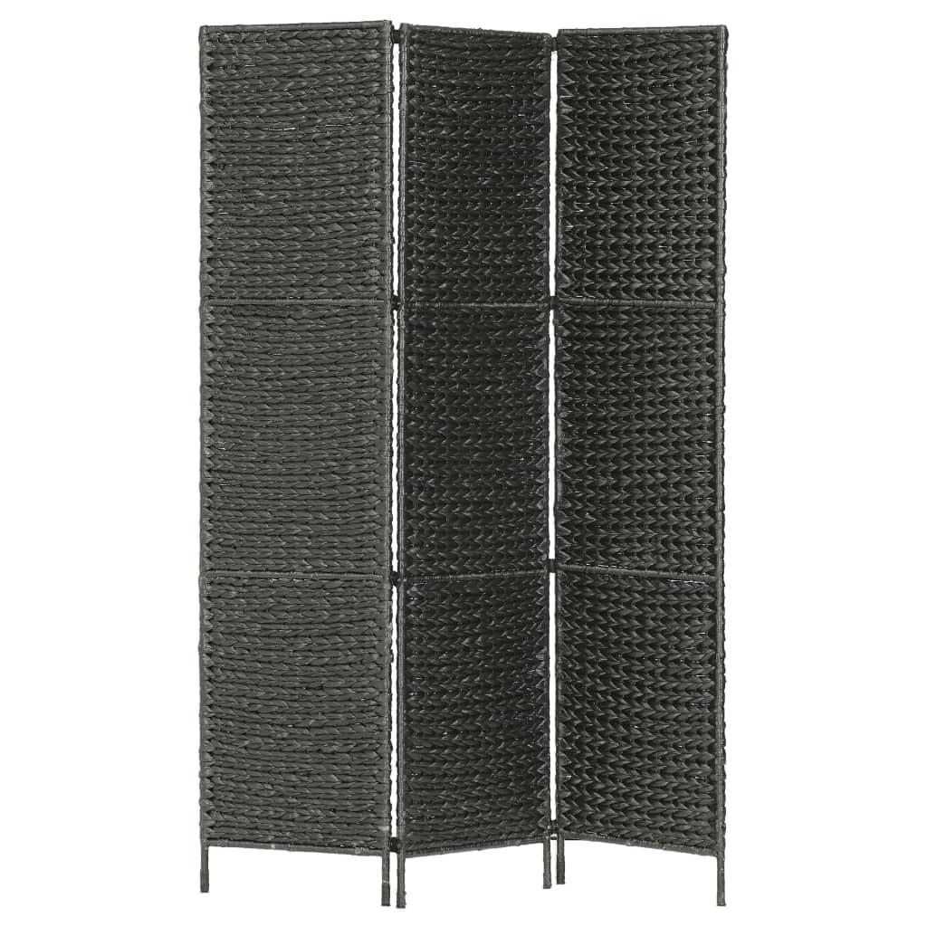 vidaXL 3-panelový paraván čierny 116x160 cm vodný hyacint