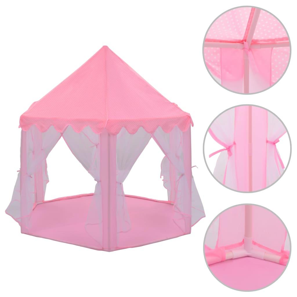vidaXL Stan na hranie pre princeznú ružový