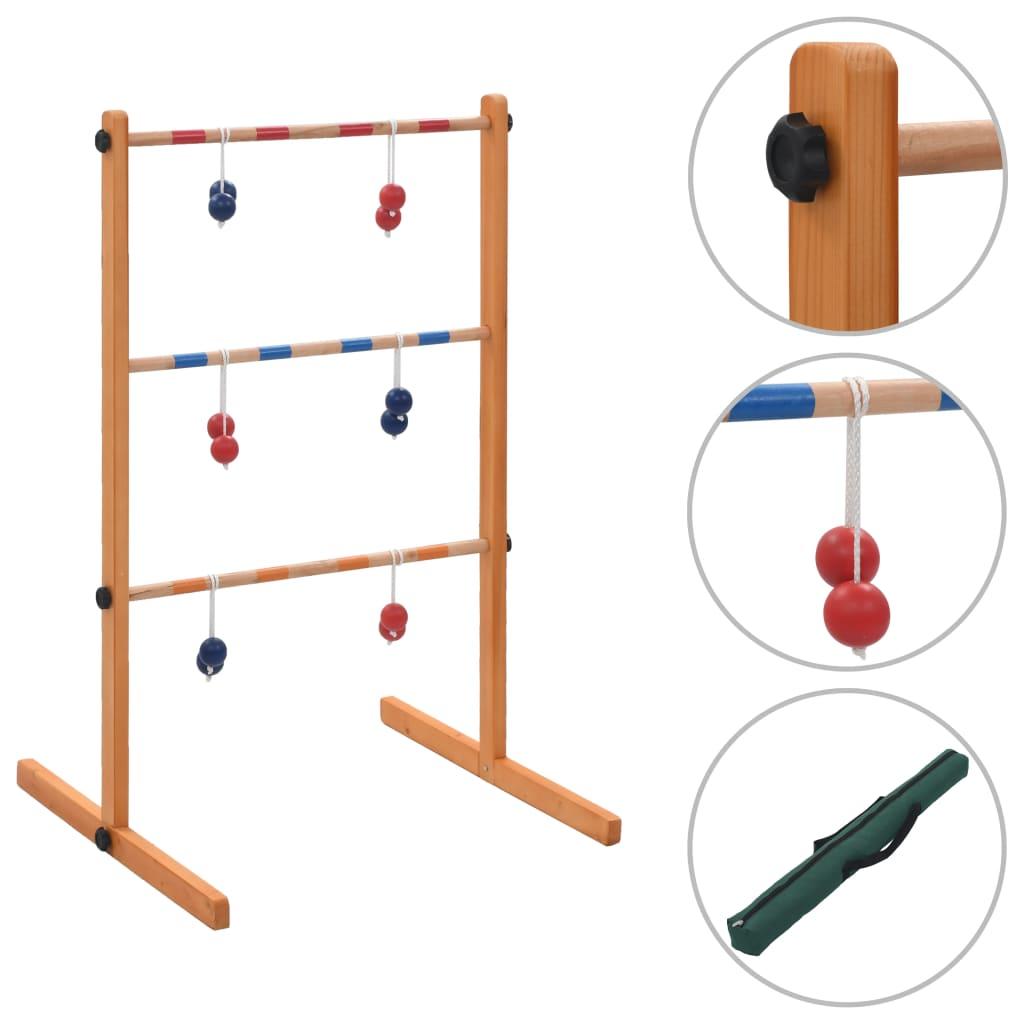 vidaXL Hra Spin Ladder drevená