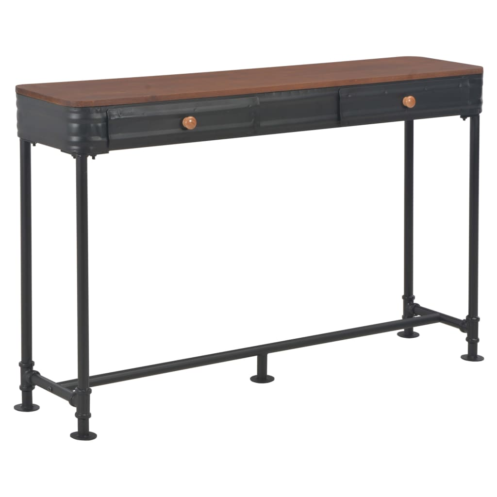 vidaXL Konzolový stolík s 2 zásuvkami 120x30x75 cm jedľové drevo