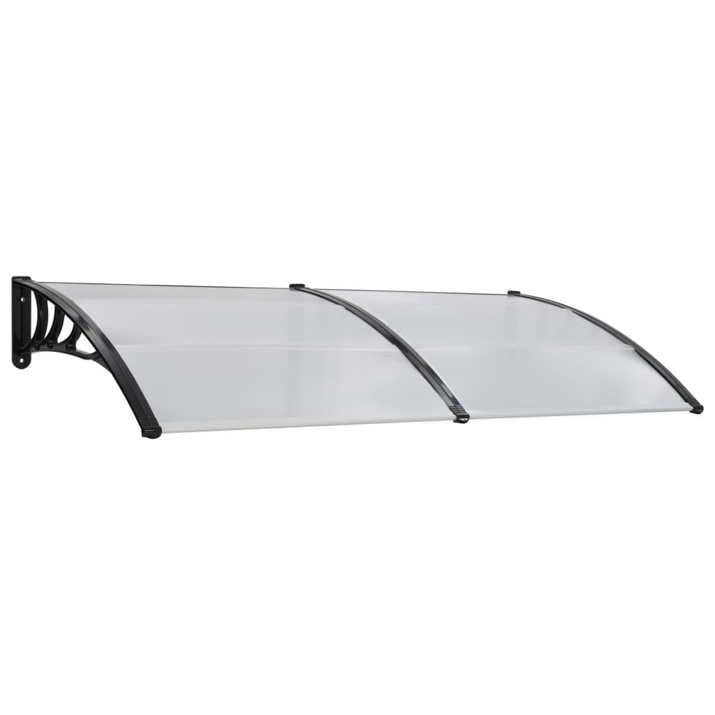 vidaXL Vchodová strieška biela 200x100 cm plast