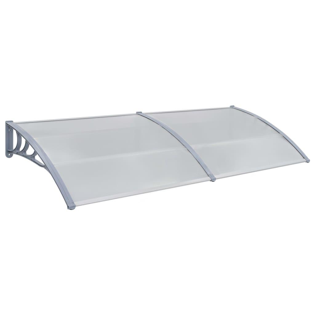 vidaXL Vchodová strieška sivá 240x100 cm plast