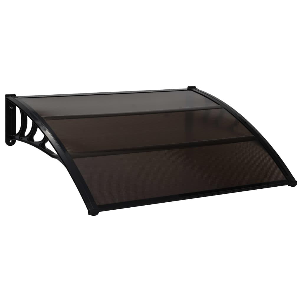 vidaXL Vchodová strieška čierna 120x100 cm plast